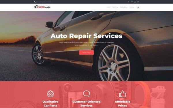 WordPress Kotisivut – EXPER Auto