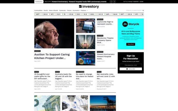 WordPress Kotisivut – Investory