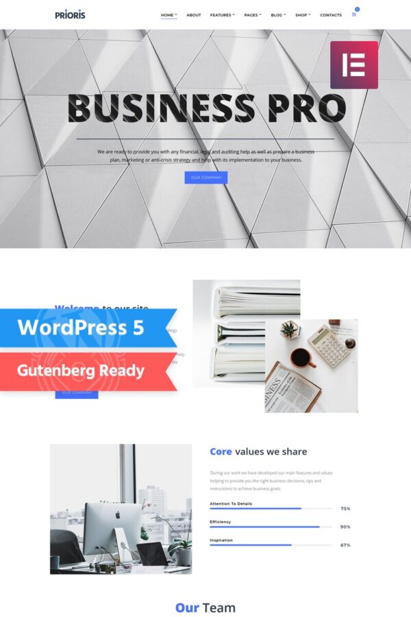 WordPress Kotisivut – Prioris