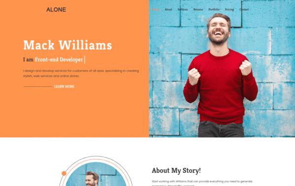 WordPress Kotisivut – Alone Light
