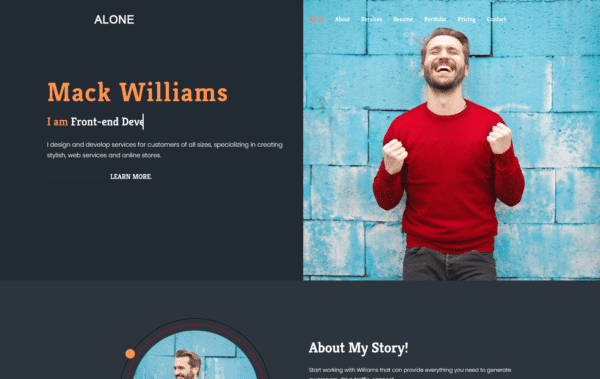 WordPress Kotisivut – Alone Dark