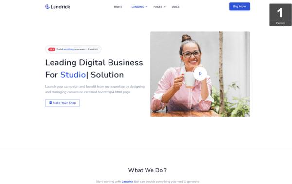 WordPress Kotisivut – Landrick Business