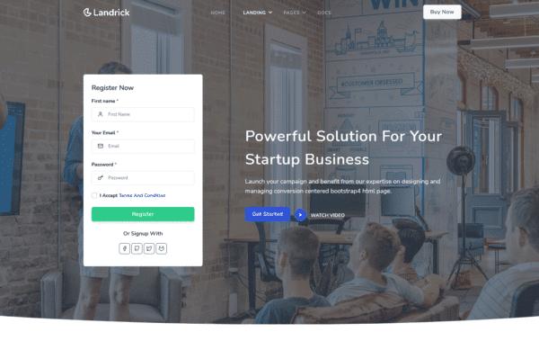 WordPress Kotisivut – Landrick Modern Business