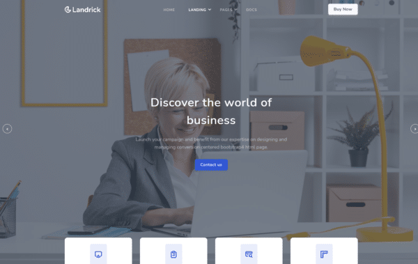 WordPress Kotisivut – Landrick Corporate