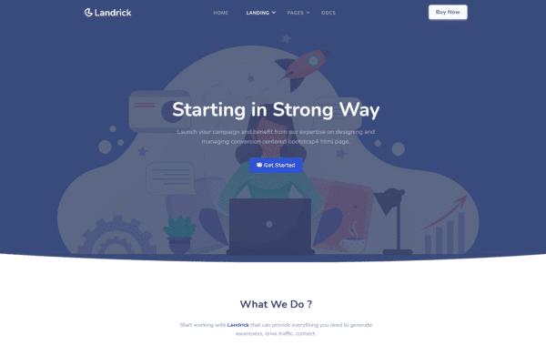 WordPress Kotisivut – Landrick Enterprise