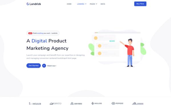 WordPress Kotisivut – Landrick Digital Agency
