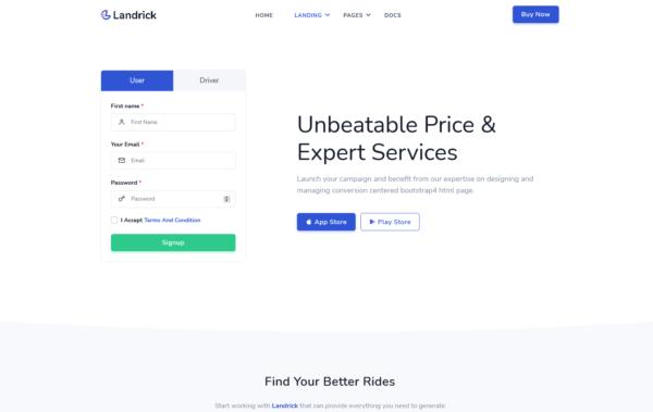 WordPress Kotisivut – Landrick Car Ride