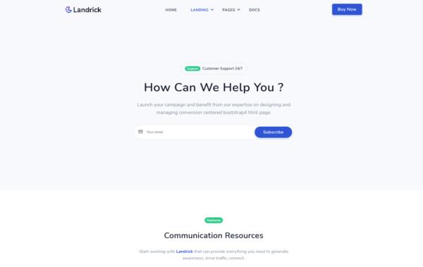 WordPress Kotisivut – Landrick Customer