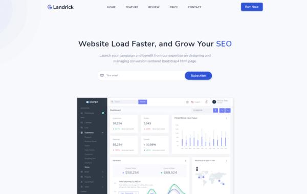WordPress Kotisivut – Landrick One Page
