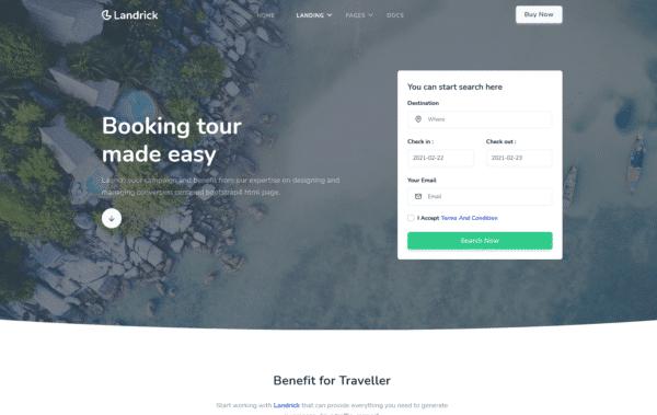 WordPress Kotisivut – Landrick Travel
