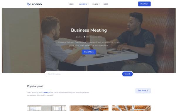 WordPress Kotisivut – Landrick Blog Landing