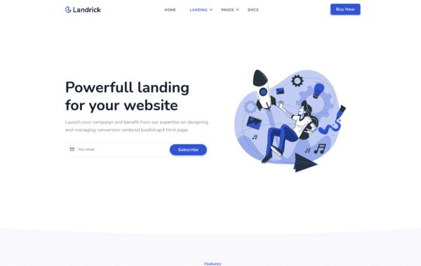WordPress Kotisivut – Landrick Landing Two