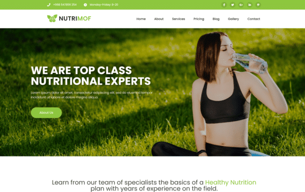 WordPress kotisivut – Nutrimof