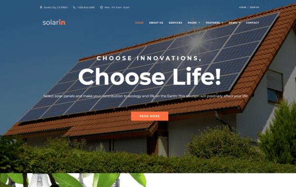 WordPress Kotisivut – Solarin