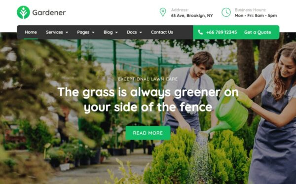 WordPress Kotisivut – Gardener