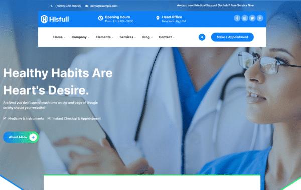 WordPress Kotisivut – Hisfull Medical