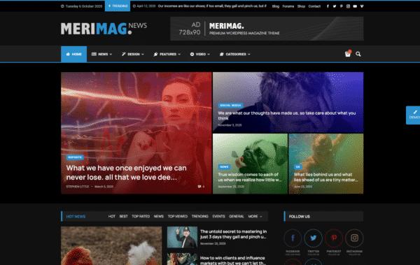 WordPress Kotisivut – Merimag Dark