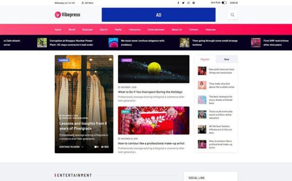 WordPress Kotisivut – VibePress